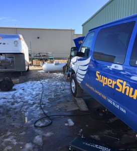 Roush CleanTech propane system in shuttle bus Denver CO
